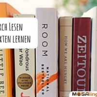 Eine Sprache lernen, indem man Bücher und Texte auf Englisch (oder der Originalsprache) liest
