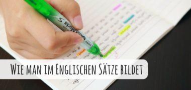 Der Satzbau im Englischen