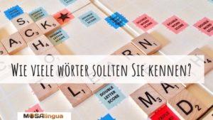 Wie viele Wörter sollten Sie kennen?