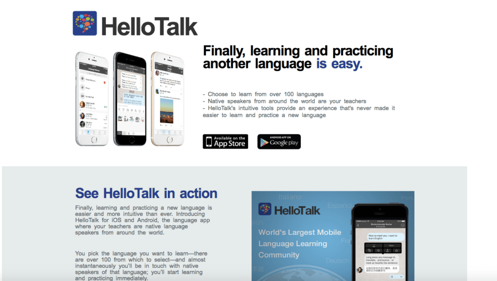 Find conversation partners on Hello Talk