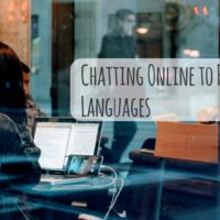 Chatting Online to Practice Foreign Languages