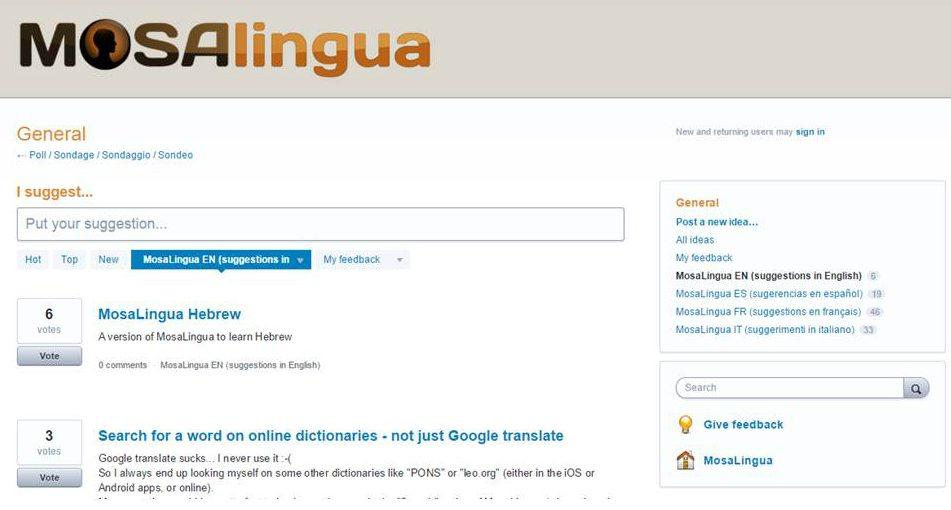 Poll MosaLingua