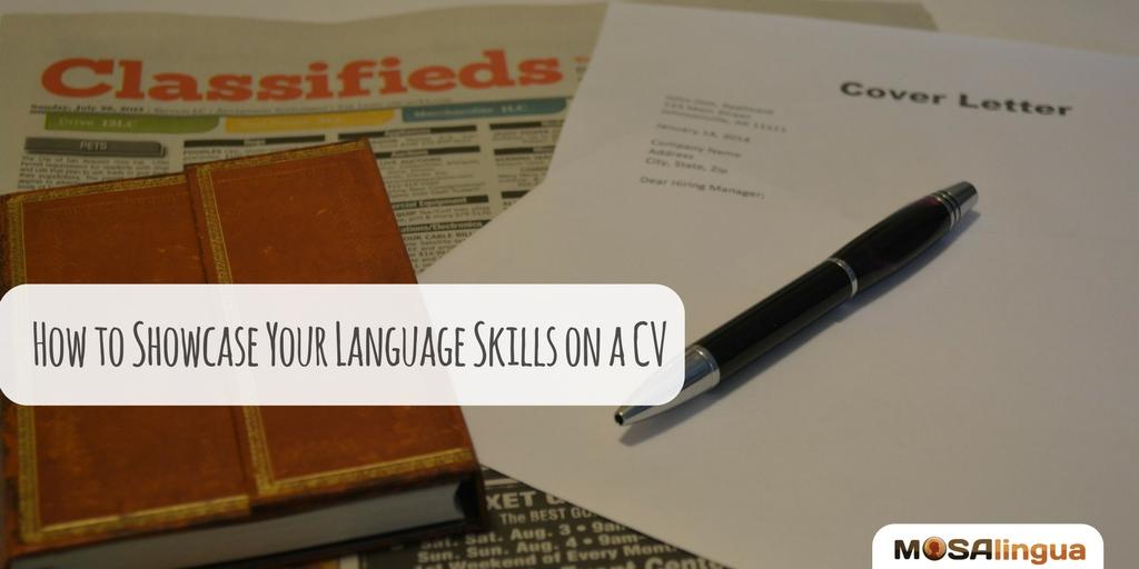 language skills on a CV
