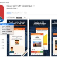 How to offer MosaLingua apps as gifts (for Christmas or other occasions)