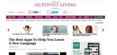 Huffington Post: MosaLingua is one of the best apps to learn languages