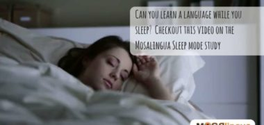 MosaLingua Learning Languages During Sleep Study [Video]