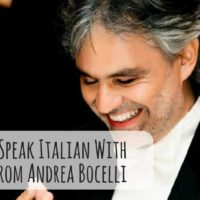 Learn to Speak Italian With Songs From Andrea Bocelli