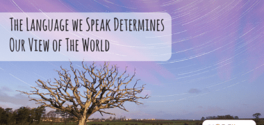 The Language we Speak Determines Our View of The World
