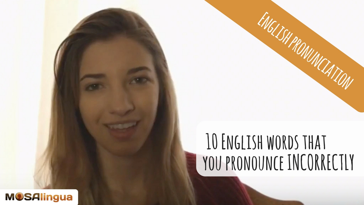 easily mispronounced english words
