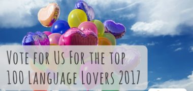 Vote For Us For The Top 100 Language Lovers 2017
