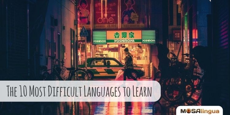 most difficult languages to learn