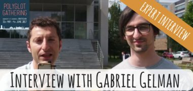 Interview with Gabriel Gelman: Learning Two Similar Languages at the Same Time, Polyglot Gathering '17 (Video)