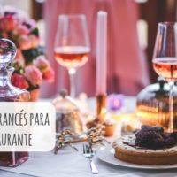 Vocabulario en francés para comer en un restaurante