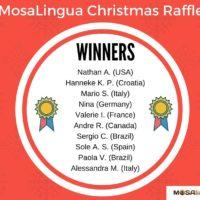 Ganadores del Concurso de Navidad de MosaLingua