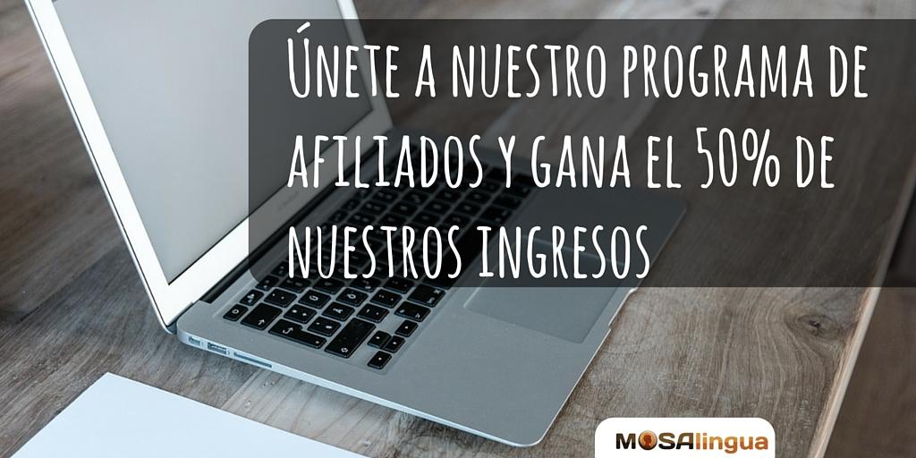 Programa de afiliados de MosaLingua
