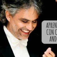 Aprender italiano con canciones de Andrea Bocelli
