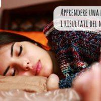 Imparare una lingua dormendo: i risultati del nostro test