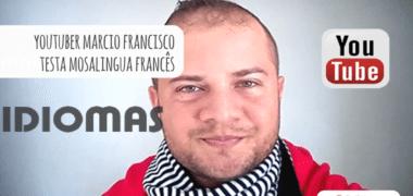 Marcio Francisco avalia o app MosaLingua