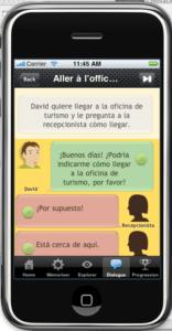 Dialogues dans MosaLingua pour iPhone