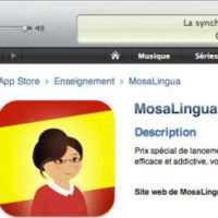 MosaLingua Espagnol est disponible en téléchargement sur l'App Store