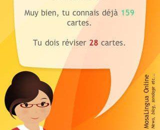 Ecran d'accueil MosaLingua Image