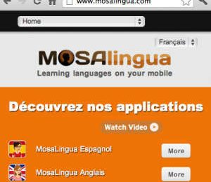 Nouveau design du site MosaLingua.com Image