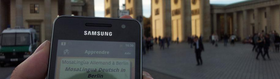 Sortie de MosaLingua pour apprendre l'allemand Image
