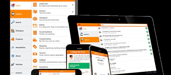 La nouvelle version de MosaLingua est disponible. Fonctionne sur Tablette et smartphone Image