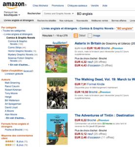 Acheter BD en anglais