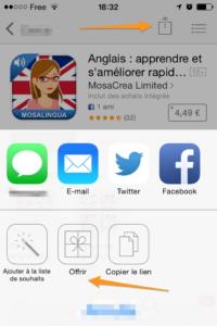 dar um aplicativo iTunes