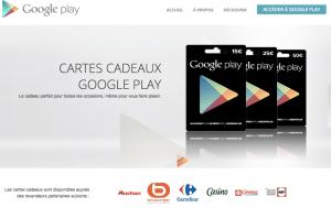 Carte cadeau Google Play pour offrir MosaLingua
