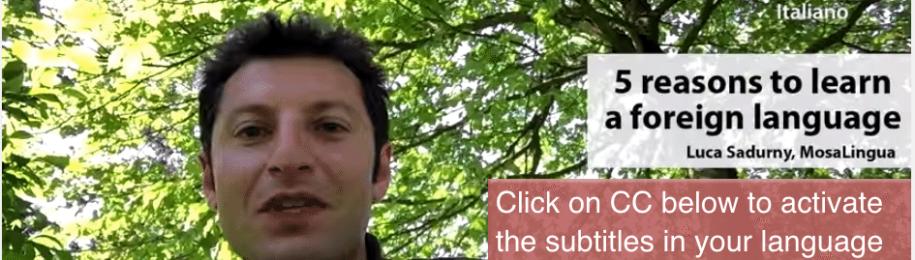 Pourquoi apprendre une langue? Vidéo de Luca en 6 langues avec ses motivations Image