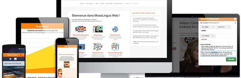 MosaLingua Web, votre solution complète pour apprendre les langues facilement sur PC, Mac… Image