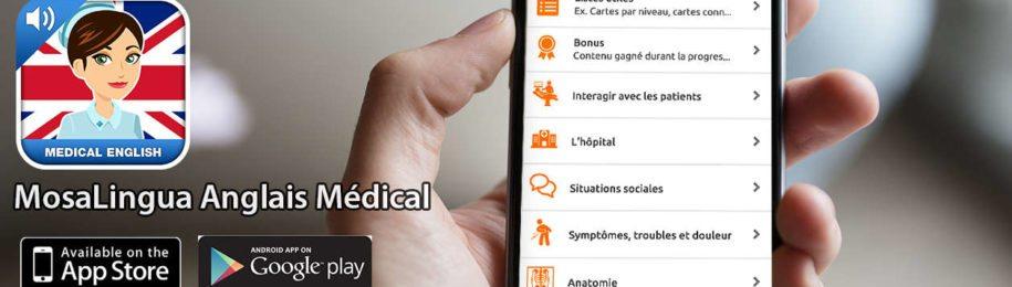 Sortie de notre application pour apprendre l'anglais médical Image