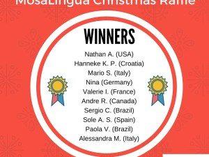 Gagnants du Concours de Noël de MosaLingua