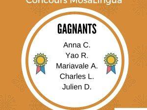 Gagnants du Concours de MosaLingua