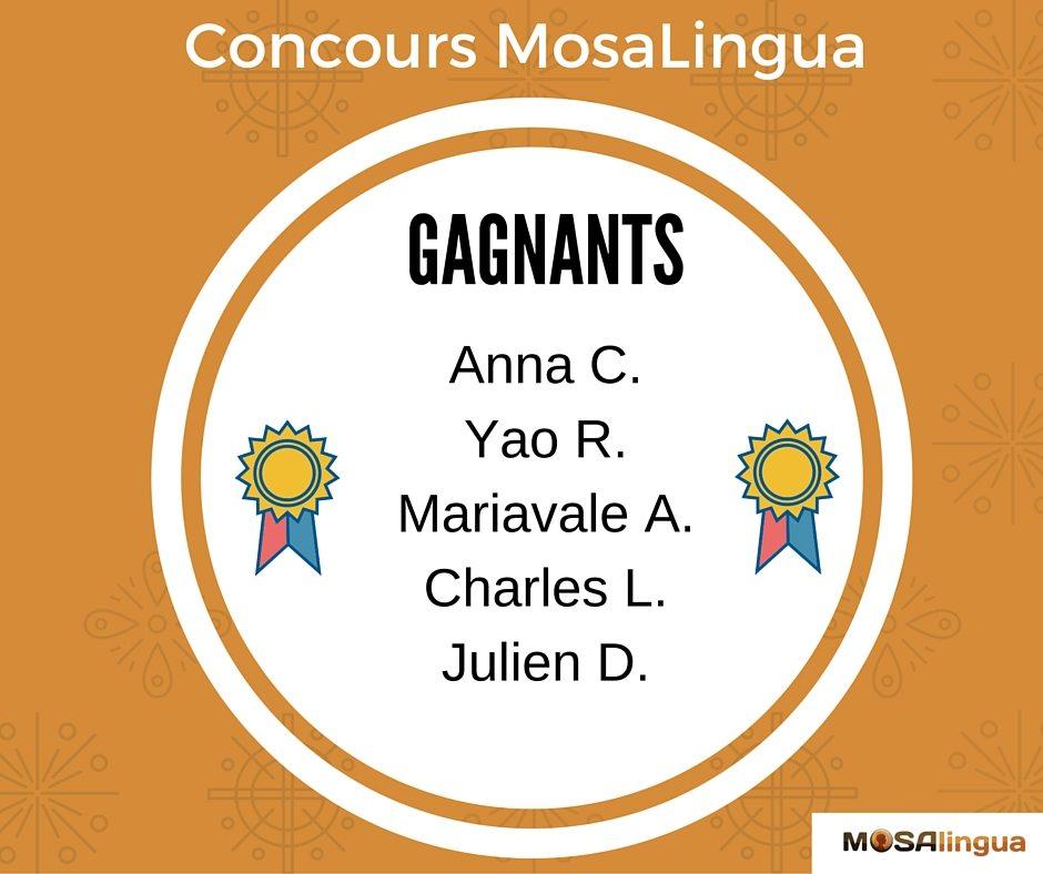 MosaLingua Concours Février-2016