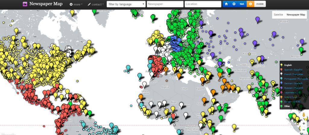 newspapermap.com : presse en ligne