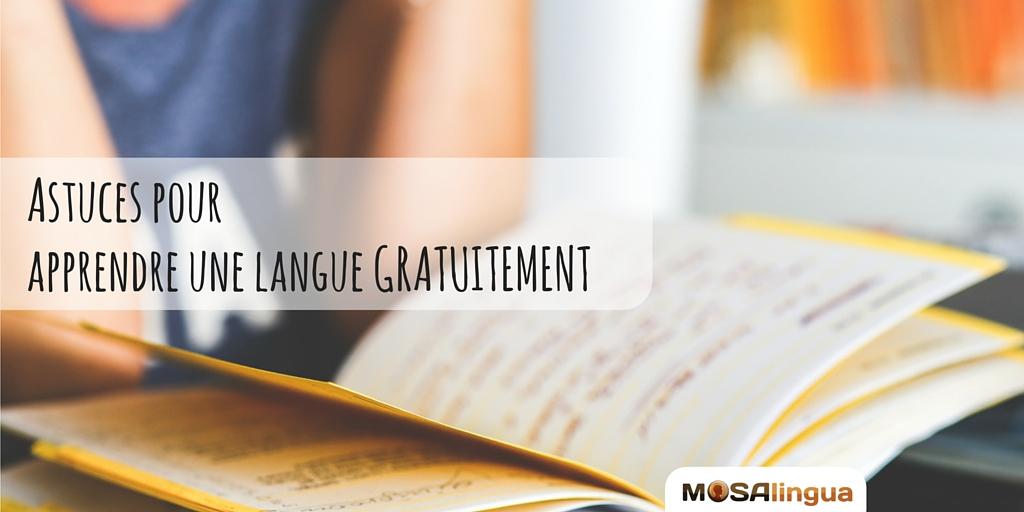 apprendre une langue gratuitement