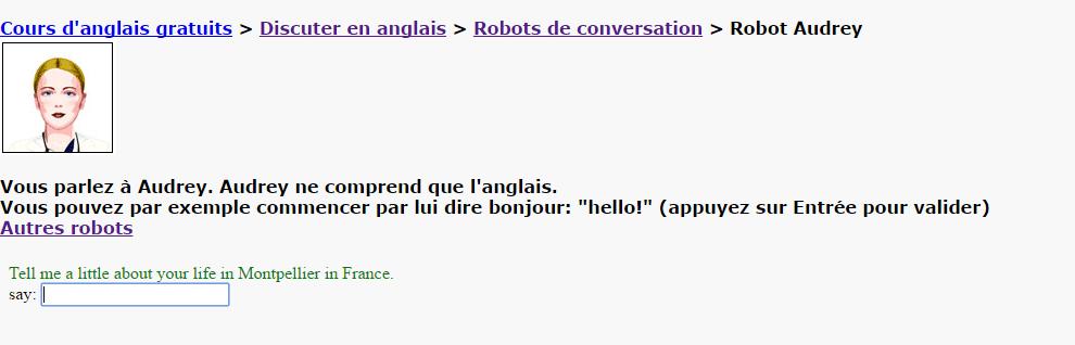je parle anglais... avec un robot