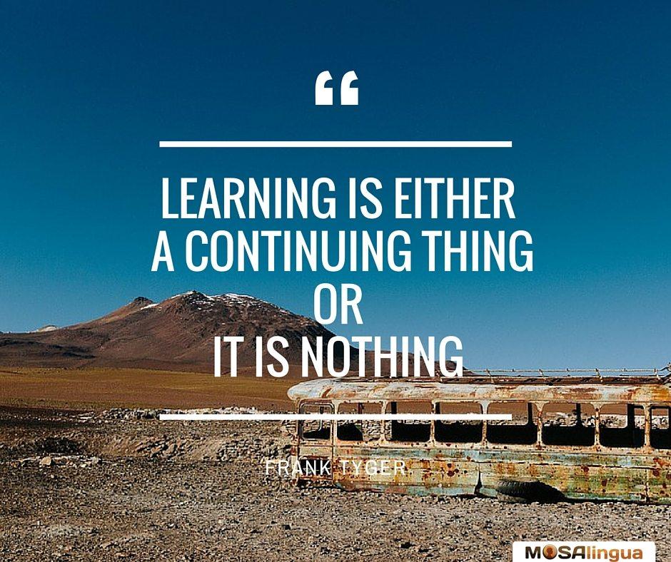 Apprendre tous les jours... ou rien - MosaLingua