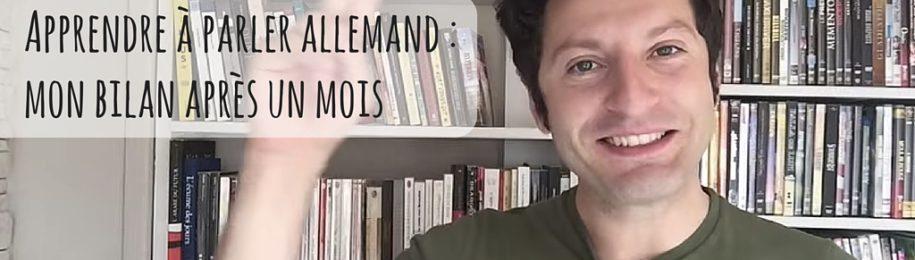 Apprendre à parler allemand : mon bilan après un mois Image