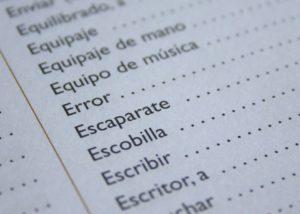 apprendre l'espagnol, le vocabulaire