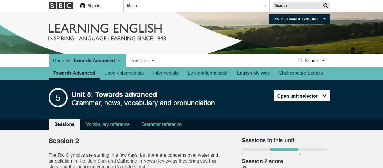 Cours d'anglais en ligne gratuits : BBC