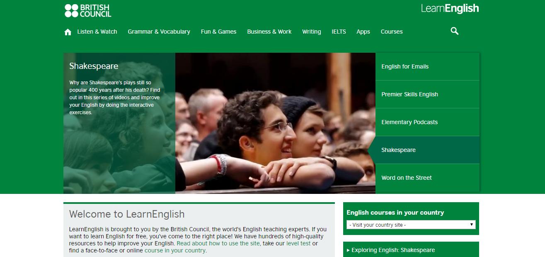 Cours d'anglais en ligne gratuits : british council