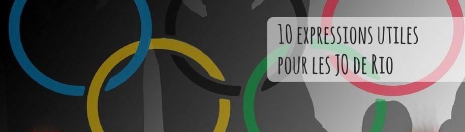 10 expressions utiles pour les JO de Rio Image