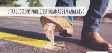 5 façons de dire «C'est dommage» en anglais