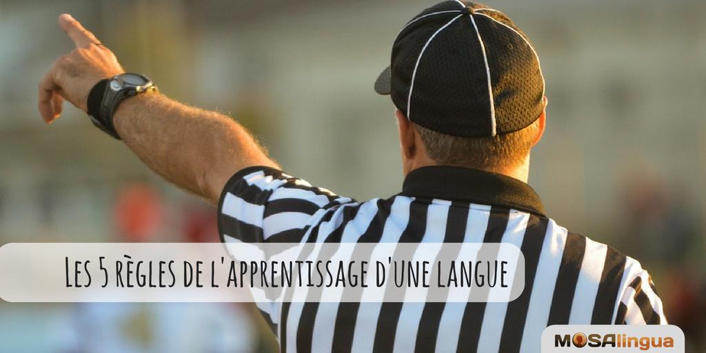 5 règles de l'apprentissage des langues vivantes