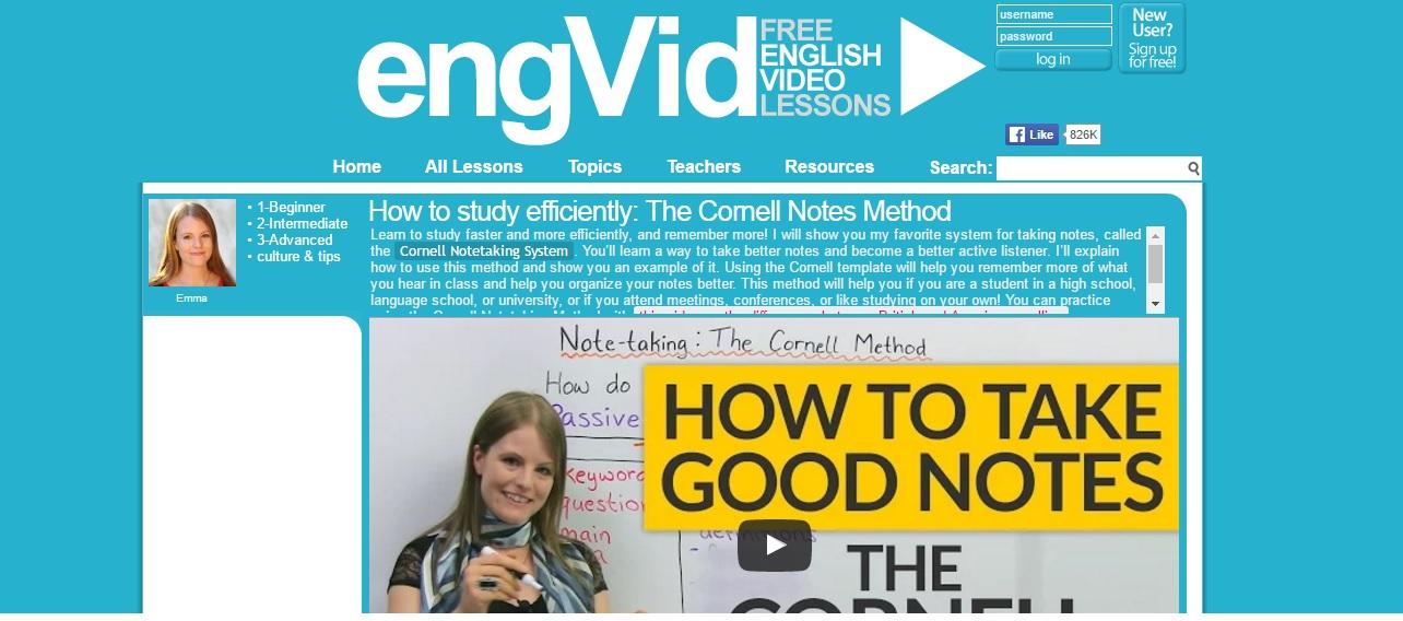 cours d'anglais gratuits en ligne : engVid