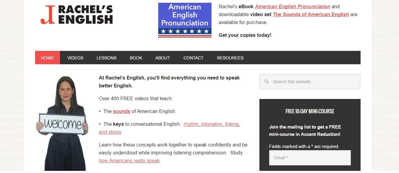 cours d'anglais gratuits en ligne : rachel's english